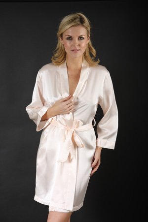 Silk Short Robe or Dressing Gown