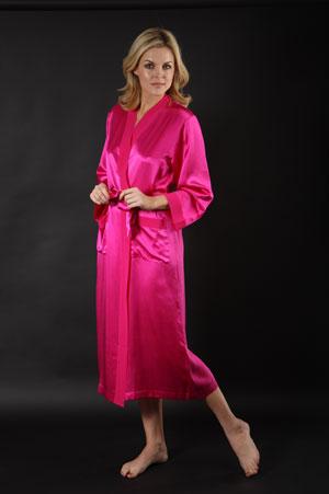 Silk Negligee Dressing Gown Silk Robe