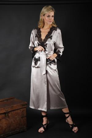 Silk Negligee / Silk Dressing Gown