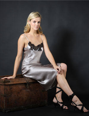 Long satin silk night dress uk