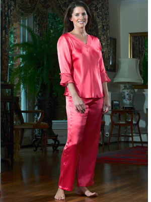 Silk Nightwear (Sleepwear) - Silk Pyjamas Camellia Rose 9e7d5fd02